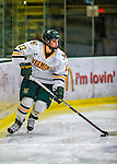2 February 2013: University of Vermont Catamount defender Gina Repaci, a Freshman from Toronto, Ontario, in action against the University of New Hampshire Wildcats at Gutterson Fieldhouse in Burlington, Vermont. The Lady Wildcats defeated the Lady Catamounts 4-2 in Hockey East play. Mandatory Credit: Ed Wolfstein Photo