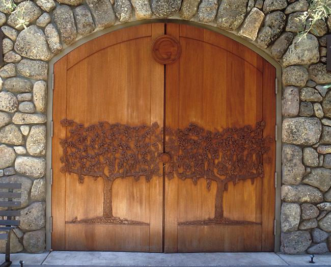 Winery door of Grace Family Vineyards