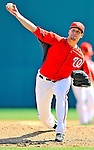 7 March 2011: Washington Nationals' pitcher Garrett Mock in action during a Spring Training game against the Houston Astros at Space Coast Stadium in Viera, Florida. The Nationals defeated the Astros 14-9 in Grapefruit League action. Mandatory Credit: Ed Wolfstein Photo