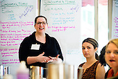Advocacy group for CHANGE, Center for Health and Gender Equity meets and strategizes for visits on Capitol Hill in Washington, DC. <br /> PHOTOS/John Nelson