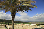 Ruins of the northern palace at Tel Megiddo, a World Heritage Site