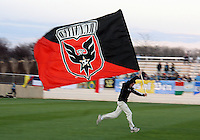 Flaf of D.C. United  during a play-in game for the US Open Cup tournament against the Philadelphia Union at Maryland Sportsplex, in Boyds, Maryland on April 6 2011. D.C. United won 3-2 after overtime penalty kicks.