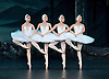 The St Petersburg Ballet Theatre Season <br /> at the London Coliseum <br /> press photocall <br /> 13th August, 1.30pm.<br /> Swan Lake <br /> Four Little Swans <br /> <br /> <br /> Photograph by Elliott Franks <br /> Image licensed to Elliott Franks Photography Services