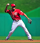 25 September 2010: Washington Nationals infielder Ian Desmond in action against the Atlanta Braves at Nationals Park in Washington, DC. The Braves shut out the Nationals 5-0 to even their 3-game series at one win apiece. The Braves' victory was the 2500th career win for skipper Bobby Cox. Cox will retire at the end of the 2010 season, crowning a 29-year managerial career. Mandatory Credit: Ed Wolfstein Photo