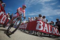 2013 Giro d'Italia.stage 7: Marina di San Salvo - Pescara .177 km..race leader Luca Paolini (ITA) at the start