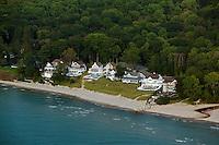 aerial photograph Lake Michigan shoreline vacation homes South Haven, Michigan