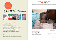 Tearsheet of &quot;Humanitarian crisis in the Nuba Mounatins, Sudan&quot; published in Courrier Internacional