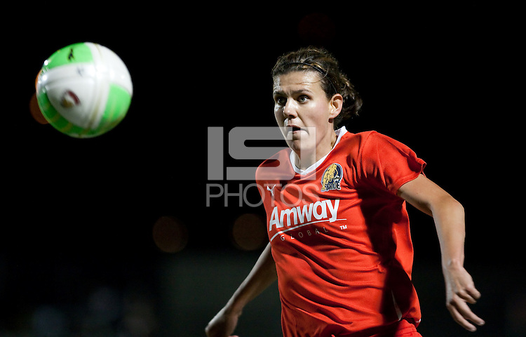 Christine Sinclair eyes the ball. FC Gold Pride defeated the Chicago Red Stars 2-0 at Castro Valley HS Athletic Stadium in Castro Valley, California on May 8th, 2010.
