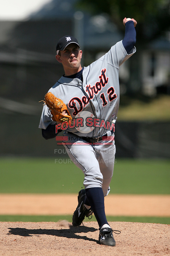 Detroit Tigers minor leaguer Duane Below during Spring Training at the Chain of Lakes Complex on March 17, 2007 in Winter Haven, Florida.  (Mike Janes/Four Seam Images)