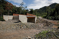 A bridge waiting for a road on the Interoceanic Highway near Quincemil