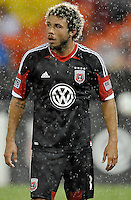 Nick De Leon (18) of D.C. United. The New England Revolution defeated D.C. Untied 2-1, at RFK Stadium, Saturday July 27 , 2013.