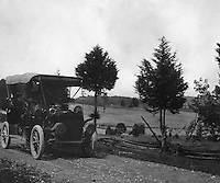 Southwestern Ohio: Brady Stewart and members of the Brady family out for a drive in the new 1906 Buick Model F - 1906