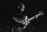 Jazz guitarist Mark Whitfield performing at Catalina Jazz Club in Hollywood, California. USA. Camera: Leica R8 / Lens: 180mm f/2.8 Elmarit-R / Film: Ilford Delta-3200 Professional