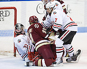 Chris Rawlings (Northeastern - 37), Pat Mullane (BC - 11), Steve Silva (Northeastern - 17) - The Northeastern University Huskies defeated the visiting Boston College Eagles 2-1 on Saturday, February 19, 2011, at Matthews Arena in Boston, Massachusetts.
