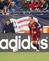 Real Salt Lake midfielder Will Johnson (8) looks to pass. Real Salt Lake defeated the New England Revolution, 2-1, at Gillette Stadium on October 2, 2010.