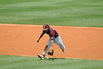 Mississippi State's Adam Frazier makes an error vs. Arkansas in the SEC Tournament at Regions Park in Hoover, Ala. on Tuesday, May 22, 2012.