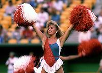 Montreal Concordes cheerleader 1985. Photo F. Scott Grant