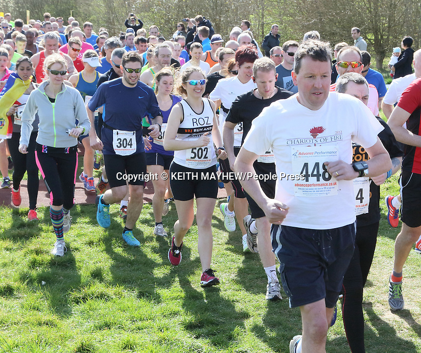 Cambourne 10K and Fun Run at Cambourne Business Park, near Cambridge, England on April 12th 2015<br /><br />Photo by Keith Mayhew