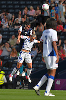 Glasgow, Scotland - July 25, 2012: Shannon Boxx during the US women's national soccer team's 4-2 victory over France.