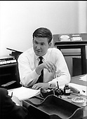 """Patrick J. """"Pat"""" Buchanan, Special Assistant to United States President Richard M. Nixon in his office in Washington, D.C. on June 12, 1969..Credit: White House via CNP"""