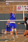 28 October 2012: Yeshiva University Maccabee Michelle Levine, a Sophomore from Teaneck, NJ, in action against the Farmingdale State College Rams at SUNY Old Westbury in Old Westbury, NY. The Rams defeated the Maccabees 3-0 in NCAA women's volleyball play. Mandatory Credit: Ed Wolfstein Photo