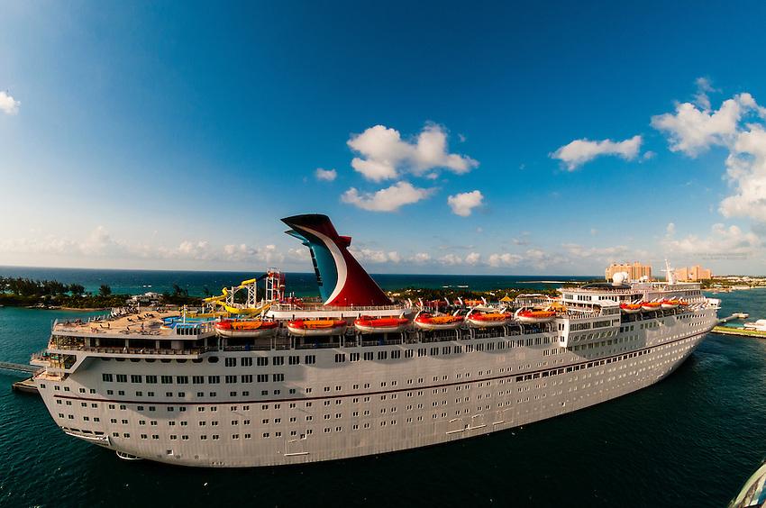 Carnival Fantasy cruise ship, Nassau, The Bahamas
