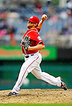 1 May 2011: Washington Nationals pitcher Drew Storen on the mound against the San Francisco Giants at Nationals Park in Washington, District of Columbia. The Nationals defeated the Giants 5-2. Mandatory Credit: Ed Wolfstein Photo