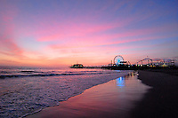 The sunset at Santa Monica Beach on Tuesday, March 29, 2011.
