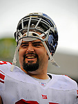 23 December 2007: New York Giants guard Grey Ruegamer warms up prior to a game against the Buffalo Bills at Ralph Wilson Stadium in Orchard Park, NY. The Giants defeated the Bills 38-21. ..Mandatory Photo Credit: Ed Wolfstein Photo
