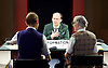 The Trial <br /> by Franz Kafka<br /> adapted by Nick Gill <br /> at The Young Vic Theatre, London, Great Britain <br /> 25th June 2015 <br /> press photocall <br /> <br /> Rory Kinnear as Josef K<br /> <br /> <br /> Sarah Crowden <br /> Richard Cant <br /> <br /> Photograph by Elliott Franks <br /> Image licensed to Elliott Franks Photography Services