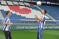 VOETBAL: HEERENVEEN: Abe Lenstra Stadion 07-08-2015, Sloveen Luka Zahovic en Mitchell te Vrede, ©foto Martin de Jong