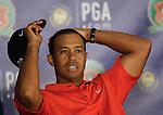 Tiger WOODS (USA) im Interview,4.Runde, 88th PGA Championship Golf, Medinah Country Club, IL, USA