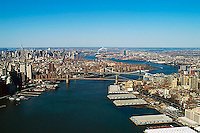 aerial photograph East River Manhattan Brooklyn, New York City