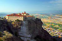 Kalambaka, Kastraki, Meteora, Greece, June 2006. The Agios Stephanos Nunnery. The Monastaries of Meteora can be found high on the steepest rocks. Photo by Frits Meyst/Adventure4ever.com