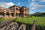 Cannons at the ready at Danshui's Fort San Domingo ???, in Taipei, Taiwan.