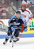 Christopher Hahn (Maine - 37), Eric Gryba (BU - 2) - The Boston University Terriers defeated the University of Maine Black Bears 1-0 (OT) on Saturday, February 16, 2008 at Agganis Arena in Boston, Massachusetts.