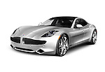 2012 Fisker Karma plug-in hybrid sedan electric luxury car. Isolated on white background with clipping path.
