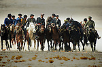 Kazakhs playing buzkashi, Pamir, China