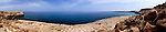 Panoramic view of the Mediterranean Sea, Cape Gkreko, Cyprus.