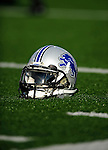 3 September 2009:  A Detroit Lions helmet sits on the turf prior to a pre-season game against the Buffalo Bills at Ralph Wilson Stadium in Orchard Park, New York. The Lions defeated the Bills 17-6...Mandatory Photo Credit: Ed Wolfstein Photo