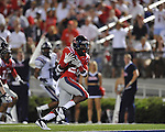Ole Miss wide receiver Philander Moore (22) catches a 25 yard touchdown pass in the 4th quarter vs. Central Arkansas at Vaught-Hemingway Stadium in Oxford, Miss. on Saturday, September 1, 2012.