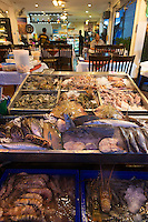 Seafood on stalls in a restaurant, Phuket, Thailand