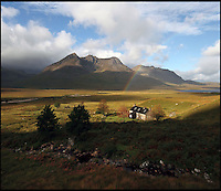 BNPS.co.uk (01202 558833)<br /> Pic: GeoffAllan/BNPS<br /> <br /> A classic bothy with plenty of sleeping space located at the stunning Shenavall in the Northern Highlands.<br /> <br /> Views with rooms. - New book reveals the remote 'bothies' that lie hidden in some of Britain's most spectacular locations.<br /> <br /> Nestled away in the beautiful remote wilderness of Scotland are a network of secluded mountain huts - known as bothies - where walkers can stay the night before heading to pastures new.<br /> <br /> What is so special about these quaint outposts in some of the most idyllic and untouched landscapes north of the border is that they are completely free to use.<br /> <br /> As a result, the location of many bothies has been a closely guarded secret with visitor centres reluctant to advertise their whereabouts for fear they become overcrowded.<br /> <br /> But in his new book, The Scottish Bothy Bible, author and photographer Geoff Allan has listed more than 80 of them in a bid to make them known to a wider audience.