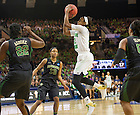 Mar. 31, 2014; Notre Dame guard Jewell Loyd shoots over Baylor in the finals of the Notre Dame regional in the 2014 NCAA Tournament at the Purcell Pavilion. Notre Dame won 88-69. Photo by Barbara Johnston/University of Notre Dame