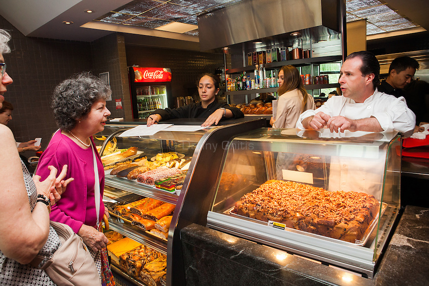 Chef David Teyf behind the counter at Lox, the new restaurant at the Museum of Jewish Heritage, which now has a take out counter. <br /> <br /> Danny Ghitis for The New York Times