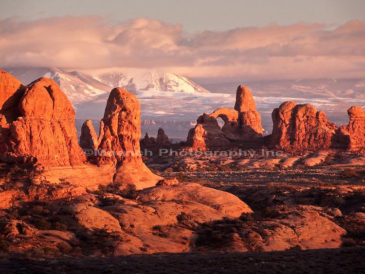 Arches National Park, La Sal Mountain Range, Ut