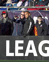 New England Revolution head coach Steve Nicol speaking from experience. In a Major League Soccer (MLS) match, the New England Revolution defeated DC United, 2-1, at Gillette Stadium on March 26, 2011.