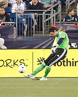 Vancouver Whitecaps FC goalkeeper Joe Cannon (1). In a Major League Soccer (MLS) match, the New England Revolution defeated Vancouver Whitecaps FC, 4-1, at Gillette Stadium on May 12, 2012.