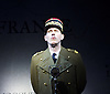The Patriotic Traitor <br /> at Park Theatre, London, Great Britain <br /> press photocall <br /> 18th February 2016 <br /> <br /> Laurence Fox as Charles de Gaulle <br /> <br /> <br /> <br /> <br /> Photograph by Elliott Franks <br /> Image licensed to Elliott Franks Photography Services