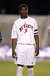 NC State's John Queeley on Wednesday, November 9th, 2005 at SAS Stadium in Cary, North Carolina. The University of North Carolina Tarheels defeated the North Carolina State University Wolfpack 1-0 during their Atlantic Coast Conference Tournament Quarterfinal game.